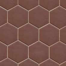 Hexatile Marron Mate