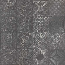 Dec.Patchwork Black Lapp 60x60