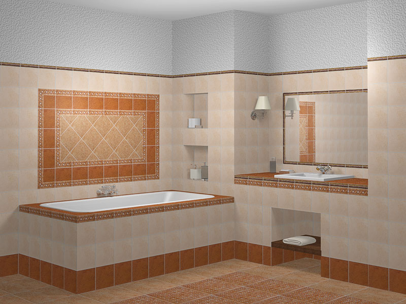 Отделка ванных комнат кафелем фото